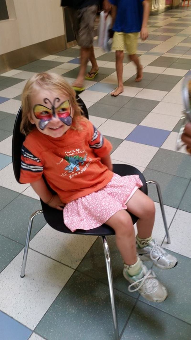 Face painted  - Happy birthday to my best girl ever
