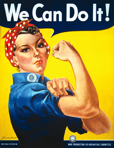 We can do it war poster feminism feminist strong woman